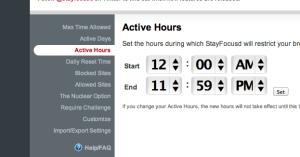 تحديد التوقيت حسب الساعة